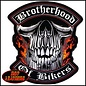 Hot Leather Patch Brotherhood of Bikers 4in