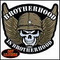 Hot Leather Patch Brotherhood Skull 5in