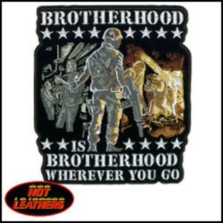 Hot Leather Patch Brotherhood Wherever 11in