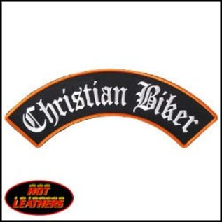 Hot Leather Patch Christian Biker 10in