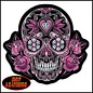 Hot Leather Patch Color Pink Sugar Skull 8in