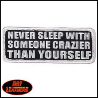 Hot Leather Patch Crazier Than Yourself 4in
