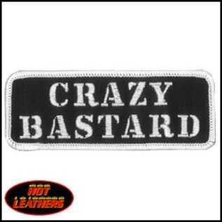 Hot Leather Patch Crazy Bastard 4in