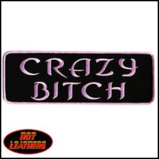 Hot Leather Patch Crazy Bitch 4in
