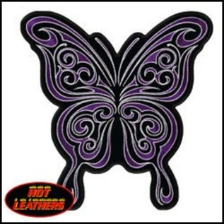 Hot Leather Patch Curly Butterfly 4in