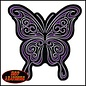 PATCH CURLY BUTTERFLY MULTI 9W 9H