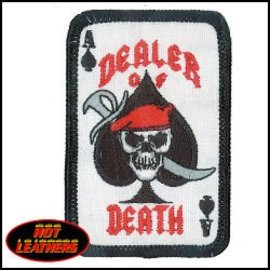 Hot Leather Patch Dealer Of Death 2in