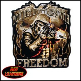 Hot Leather Patch Don't Mess w/ Freedom 11 in