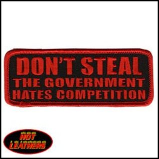 Hot Leather Patch Don't Steal 4in