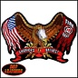 Hot Leather Patch Eagle Flag Fire Dept 5in