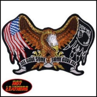 Hot Leather Patch Eagle POW Flag 5in