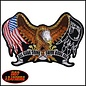 Hot Leather Patch Eagle POW Flag 8in