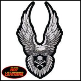 Hot Leather Patch Eagle Wings 11in