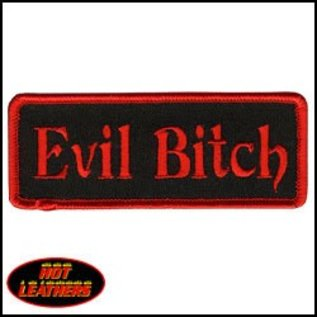 Hot Leather Patch Evil Bitch 4in
