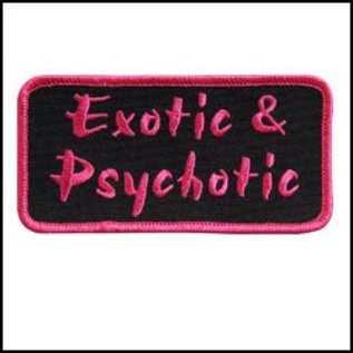 Hot Leather *DISC Patch Exotic & Psychotic 4in