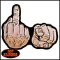 Hot Leather Patch F U Finger 4in