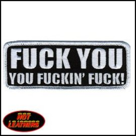 Hot Leather Patch Fuckin Fuck 4in