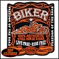 Hot Leather Patch Fire Bike Logo 4in