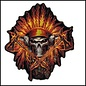 Hot Leather Patch Flame Headress 11in