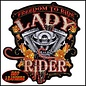 Hot Leather Patch Freedom To Ride Lady Rider 9 in