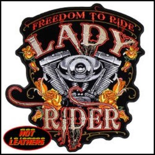 Hot Leather Patch Freedom To Ride Lady Rider 4in