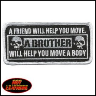 Hot Leather Patch Friend Will Help 4in