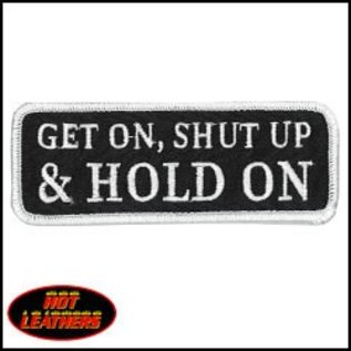 Hot Leather Patch Get On Shut Up Hold On 4in