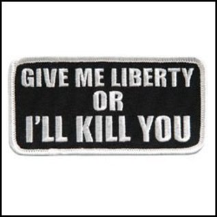Hot Leather Patch Give Me Liberty Or 4in