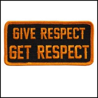 Hot Leather Patch Give Respect Get Respect 4in