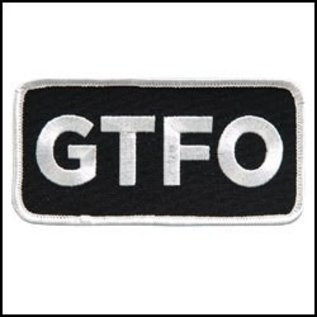 Hot Leather Patch GTFO 4in