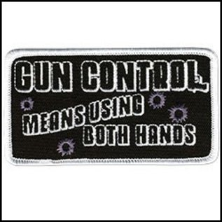 Hot Leather Patch Gun Control  4in