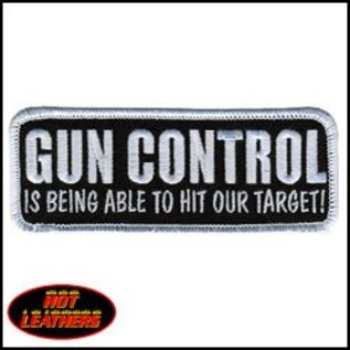 Hot Leather Patch Gun Control?Target 4in