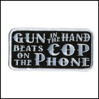 Hot Leather Patch Gun Cop Phone 4in