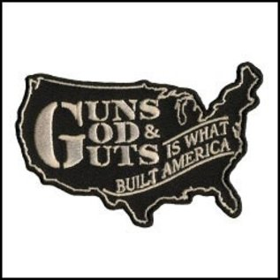 Hot Leather Patch Guns God Guts 4in