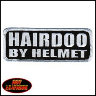 Hot Leather Patch Hairdoo by Helmet 4in