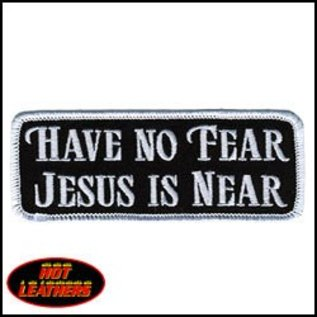 Hot Leather Patch Have No Fear 4in