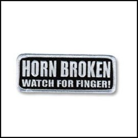 Hot Leather Patch Horn Broken 4in