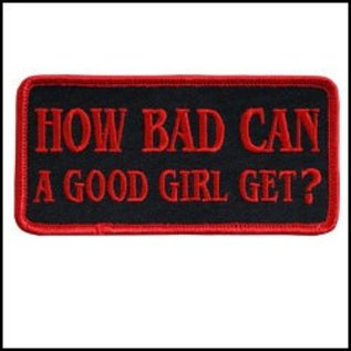 Hot Leather Patch How Bad Can A Good Girl 4in