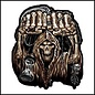 Hot Leather Patch Huge Fist Skull 12in