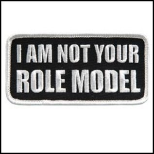 Hot Leather Patch I Am Not Your Role Model 4in