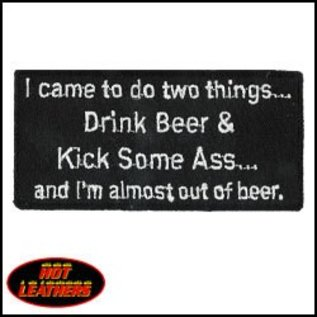 Hot Leather Patch I Came To Do 2 Things 4in
