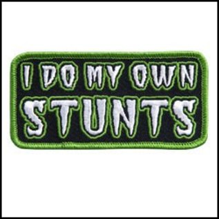 Hot Leather Patch I Do My Own Stunts 4in
