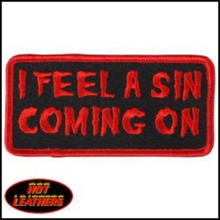 Hot Leather Patch I Feel A Sin 4in