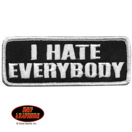 Hot Leather Patch I Hate Everybody 4in