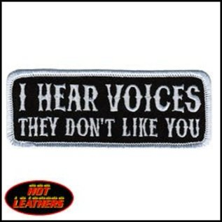 Hot Leather Patch I Hear Voices 4in
