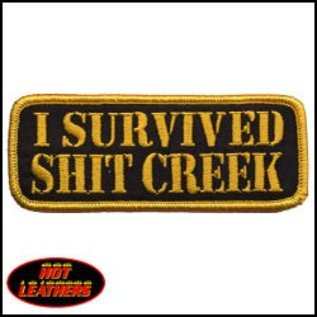 Hot Leather Patch I Survived Shit Creek 4in