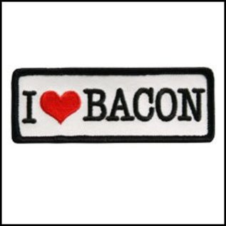 Hot Leather Patch I Love Bacon 4in