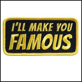 Hot Leather Patch Ill Make You Famous 4in