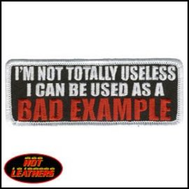 Hot Leather Patch Im Not Totally Useless 4in