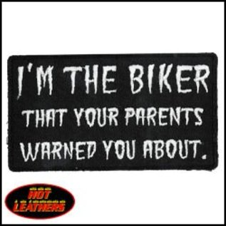 Hot Leather Patch Im The Biker Your Parents 4in